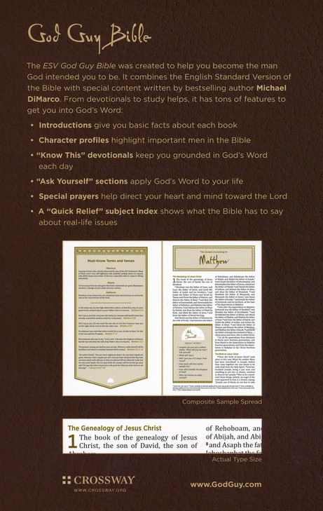 ESV God Guy Bible, Hardcover